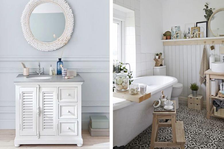 Arredare il bagno in stile shabby chic: 7 idee da copiare subito