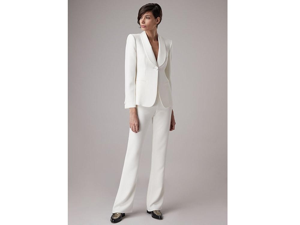 classic huge discount recognized brands Completo pantalone da sposa: i tailleur più belli per il 2019