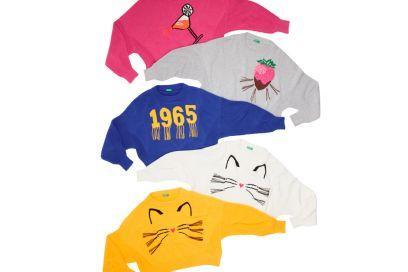 I pullover tricot di Benetton sono ultra pop e in stile manga