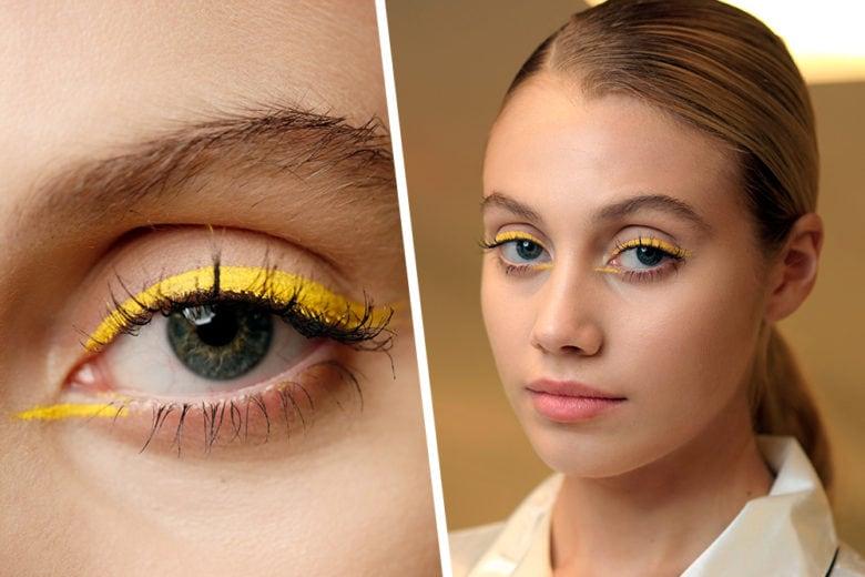Ombretto giallo: come si porta il colore più trendy di stagione