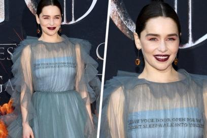 Emilia Clarke: copia il beauty look sui toni del rosa e burgundy