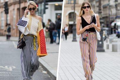 Pantaloni a righe: i modelli più cool da acquistare adesso