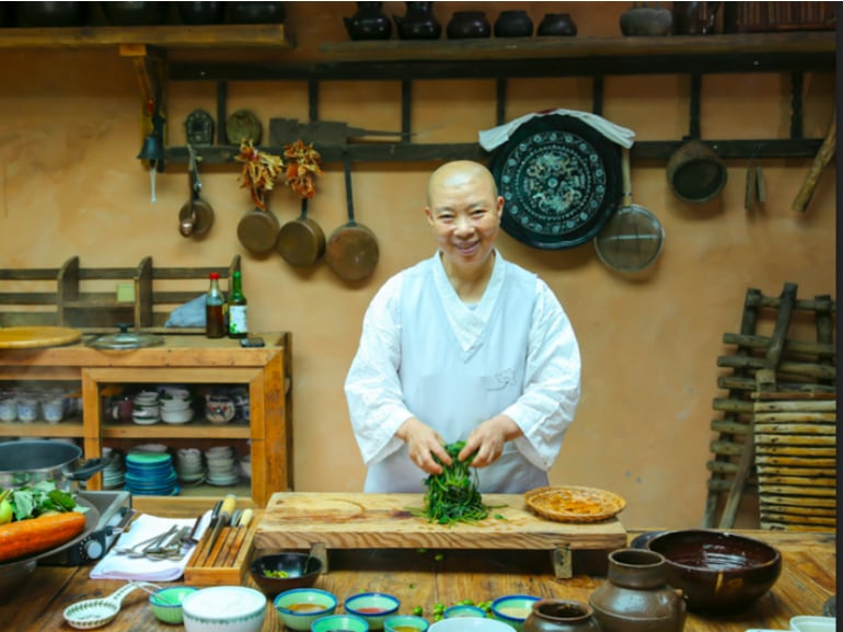 La monaca Jeong Kwan