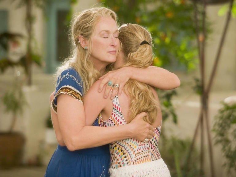 Meryl Streep abbraccio