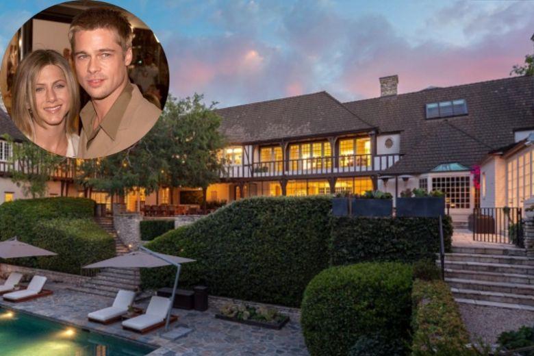 La casa dove hanno vissuto Brad Pitt e Jennifer Aniston è in vendita