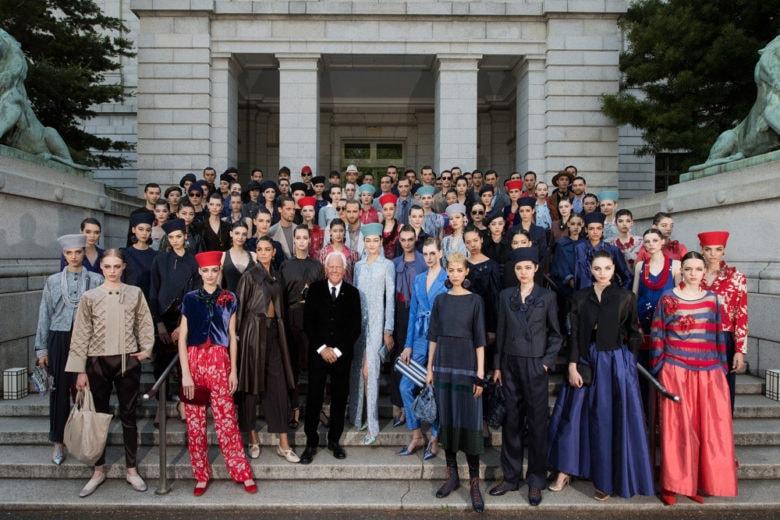 Armani Cruise 2020: la sfilata al Museo Nazionale di Tokyo