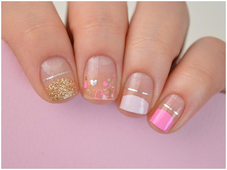 unghie rosa nail art cover mobile 1