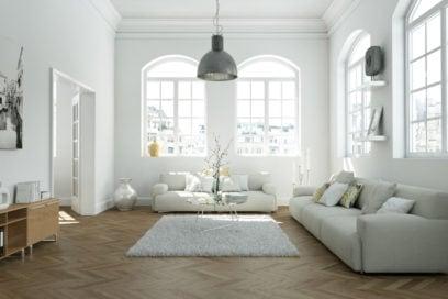 Come arredare un soggiorno moderno total white