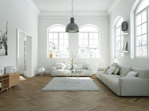 Idee originali per arredare un soggiorno bianco