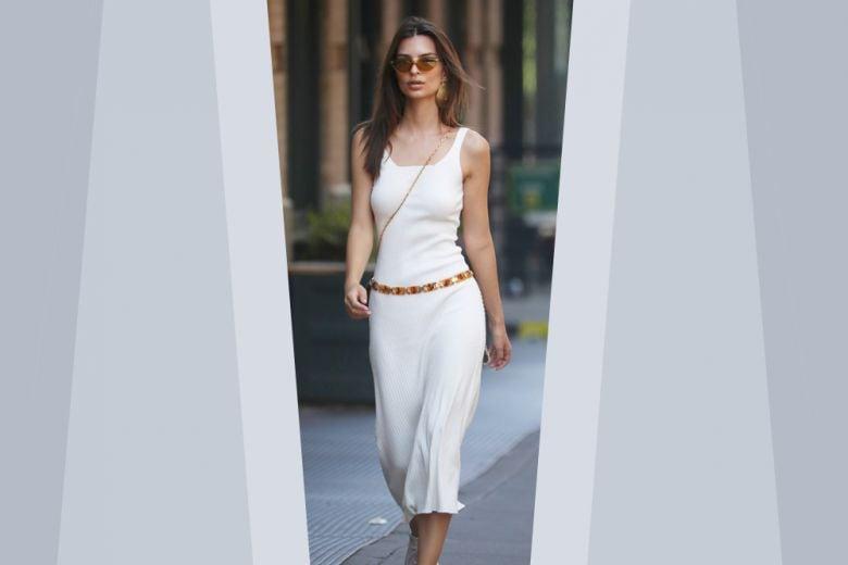 Il vestito a costine è un must dell'estate 2019 (come insegna Emily Ratajkowski)