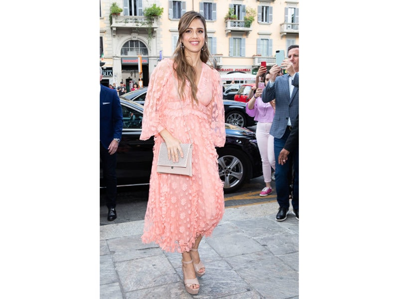 Jessica-Alba-in-GIAMBATTISTA-VALLI-is-seen-arriving-a-Meet-&-Greet-event-for-the-presentation-of-the-Honest-Beauty-line-at-Douglas-store-getty