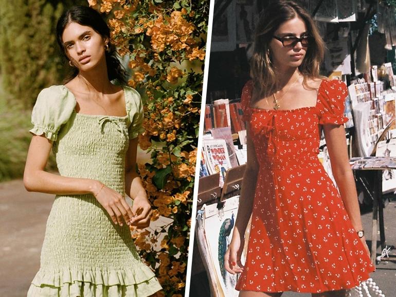 Gli abiti arricciati per un'estate super romantica