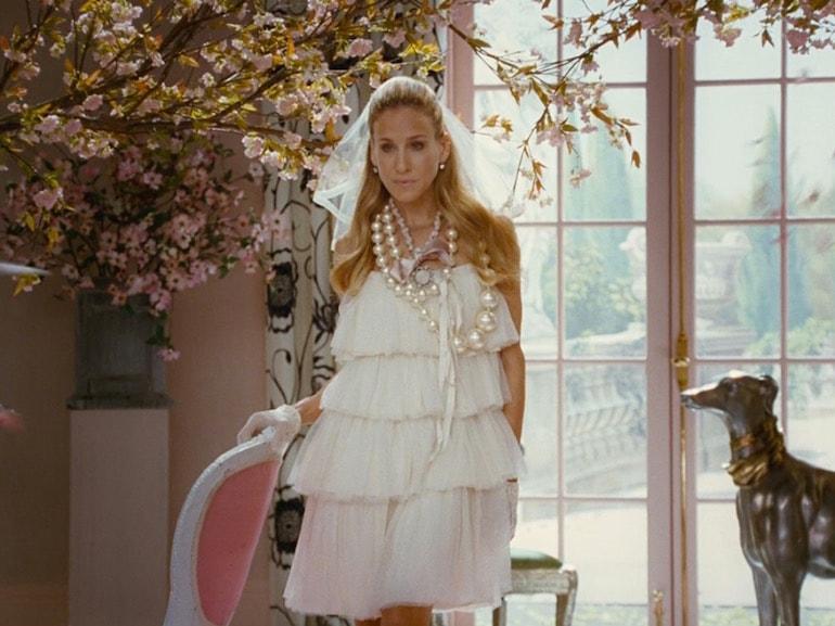 Sarah Jessica Parker vestito bianco