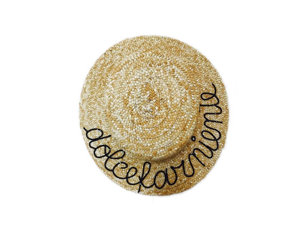 cappello-paglia-donna-scritta-dolcefarniente-LEONTINE-VINTAGE
