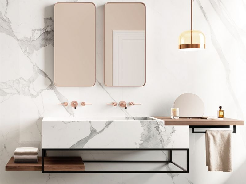 mobile bagno doppio lavabo cover mobile