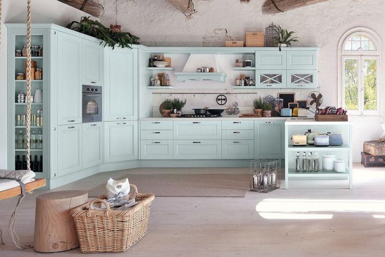 7 cucine shabby colorate da cui trarre ispirazione