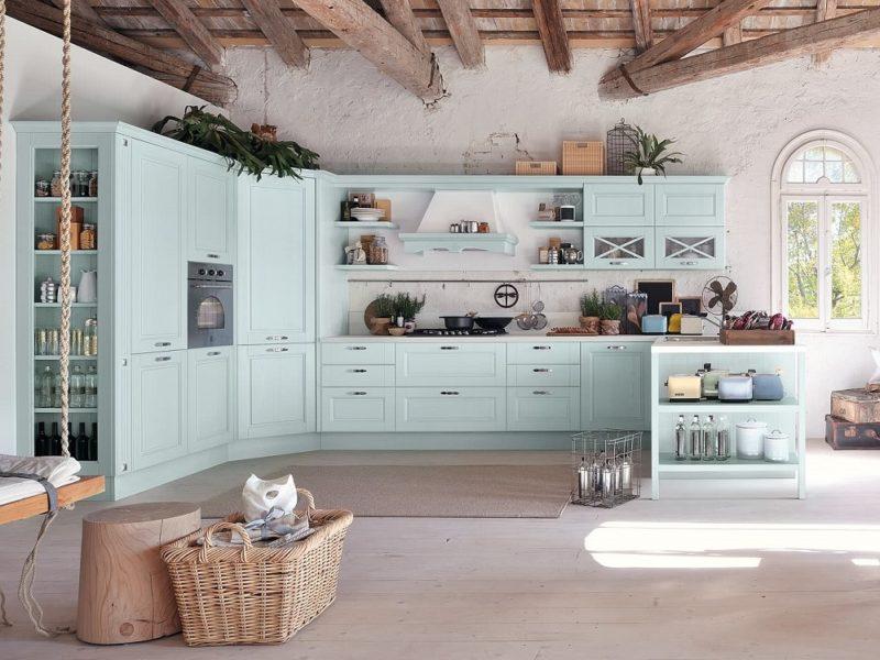 mobile cucina shabby colore lube