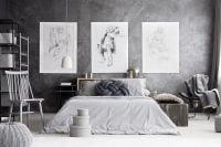 7 decorazioni originali per le pareti della camera da letto