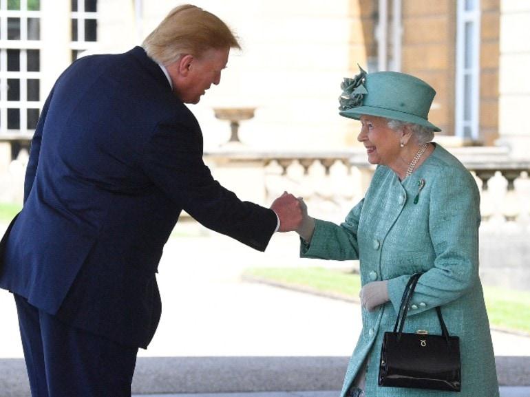 regina elisabetta donald trump