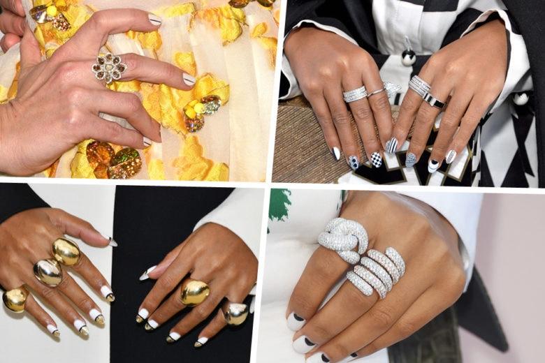 """Nail art """"off white"""": la manicure estiva ad alto impatto glam"""