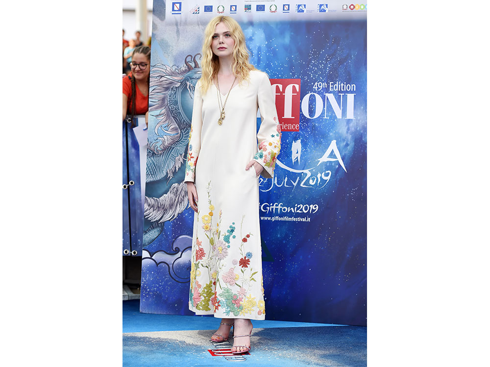 Elle-Fanning-in-Valentino–Resort-2020-collection-al-Griffoni-Film-Festival-getty