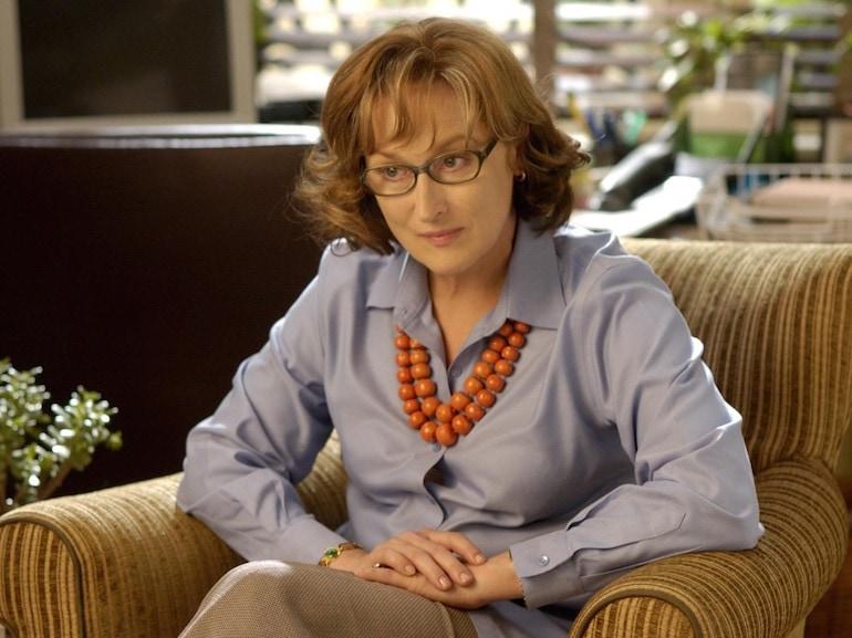 Maryl Streep camicia azzurra