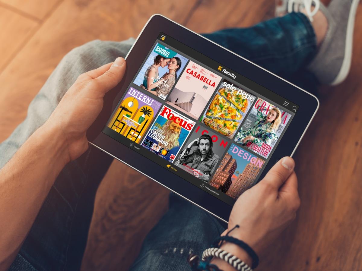 Readly app per leggere da device 7
