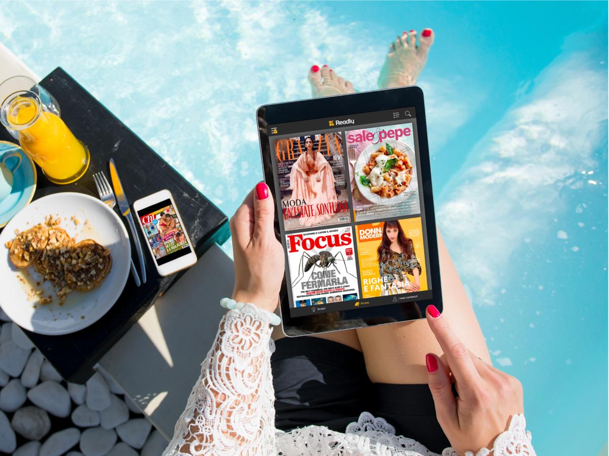 Readly app per leggere da device 8