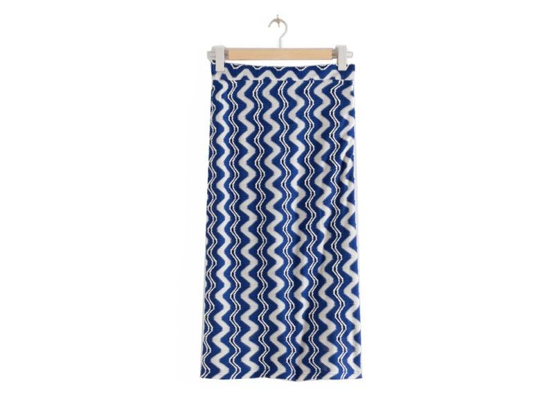 stories-jacquard-wave-midi-skirt