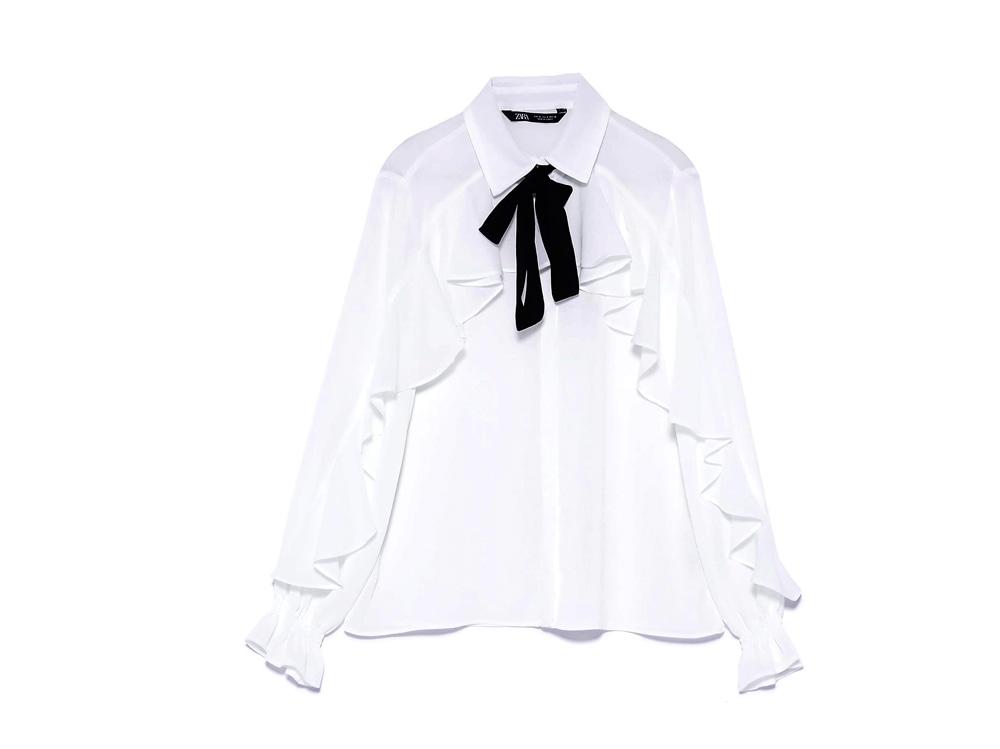 zara-camicia-bianca-con-fiocco-e-volants