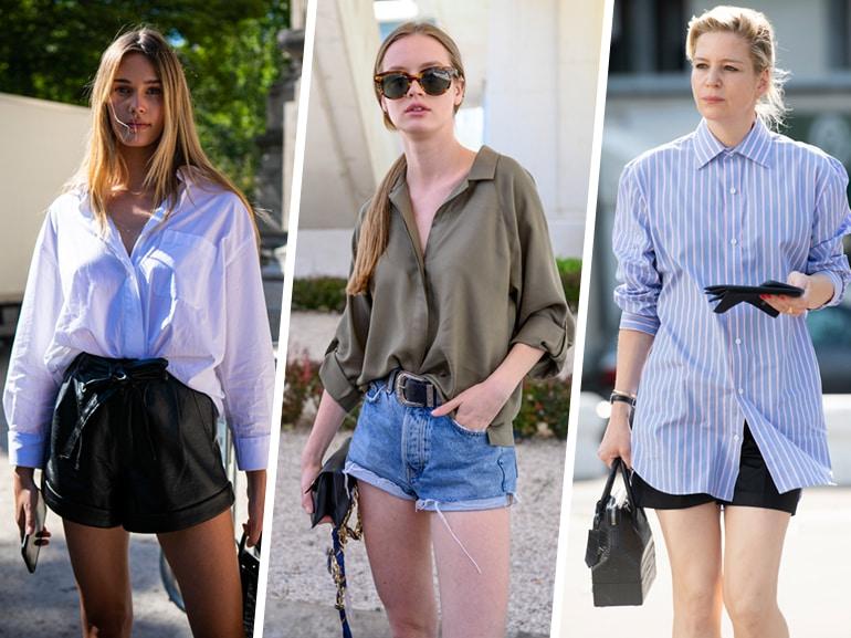 Shorts + camicia: la