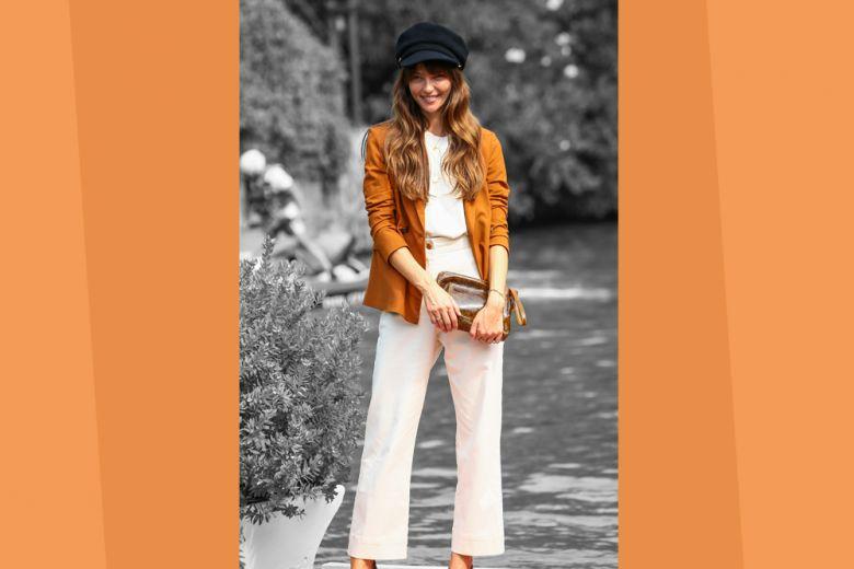I pantaloni bianchi s'indossano anche in autunno (e Annabelle Belmondo ci mostra come)