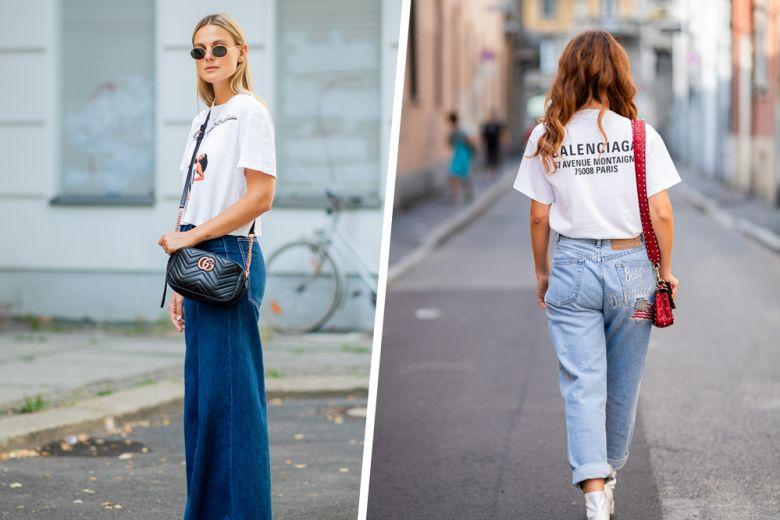 Jeans + t-shirt: la combo (molto cool) perfetta per l'autunno