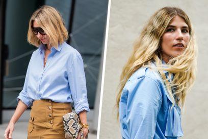 La camicia azzurra è l'alleata perfetta per i vostri look d'autunno (in ufficio e non solo)!