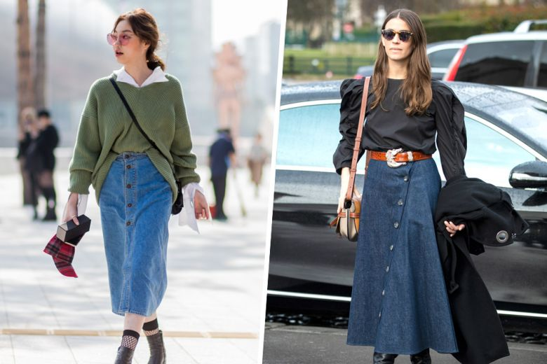 La denim skirt? Un must anche in autunno!