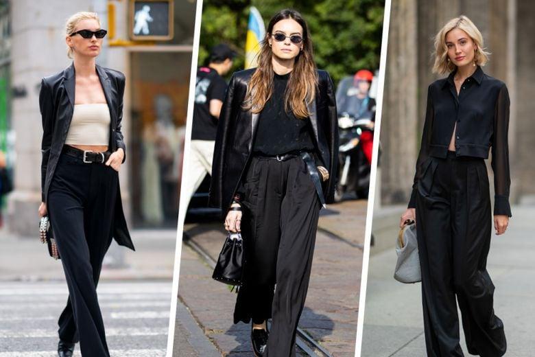 I pantaloni neri sono il passe-partout di cui abbiamo bisogno (tutto l'anno)
