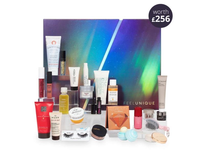 FEEL-UNIQUE-GRANDE-calendario-dell'avvento-beauty-make-up-trucchi-creme-profumi-natale-2019