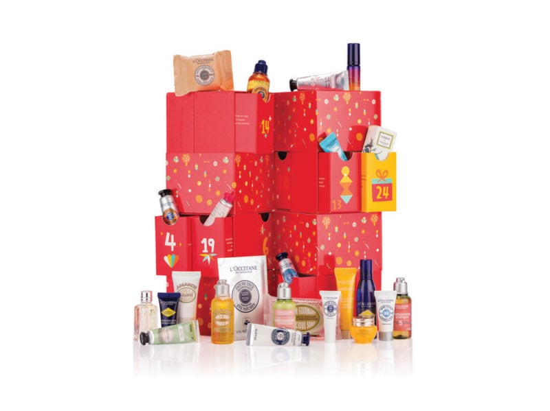 L'OCCITANE-EN-PROVENCE-LUXURY-calendario-dell'avvento-beauty-make-up-trucchi-creme-profumi-natale-2019