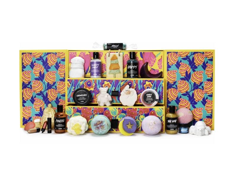 LUSH-calendario-dell'avvento-beauty-make-up-trucchi-creme-profumi-natale-2019