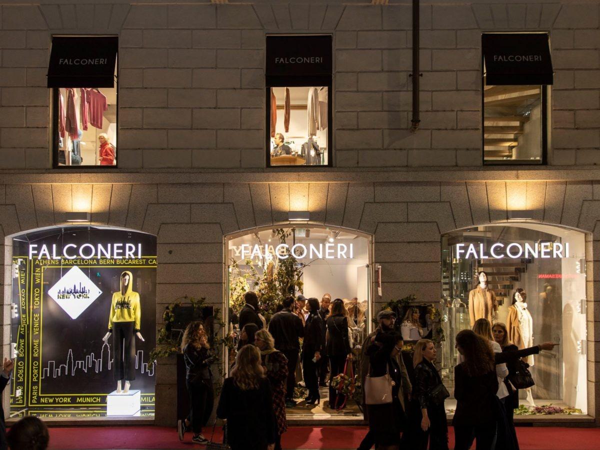 Milano wine week vini Pasqua boutique Falconeri evento La Vendemmia di Montenapoleone Milano 5