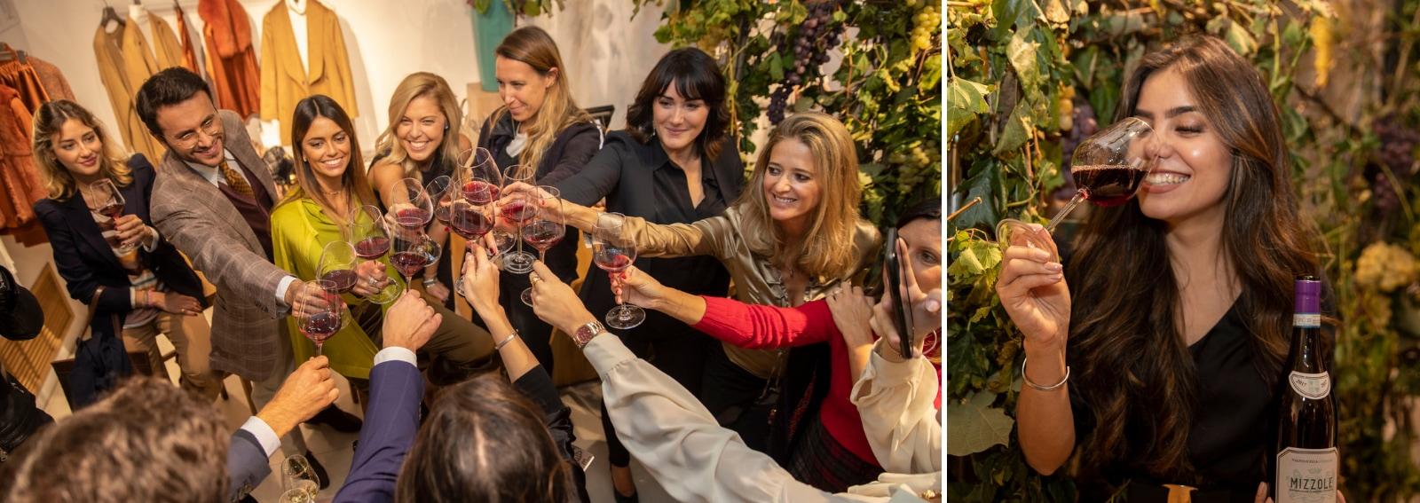 Milano wine week vini Pasqua boutique Falconeri evento La Vendemmia di Montenapoleone Milano DESK