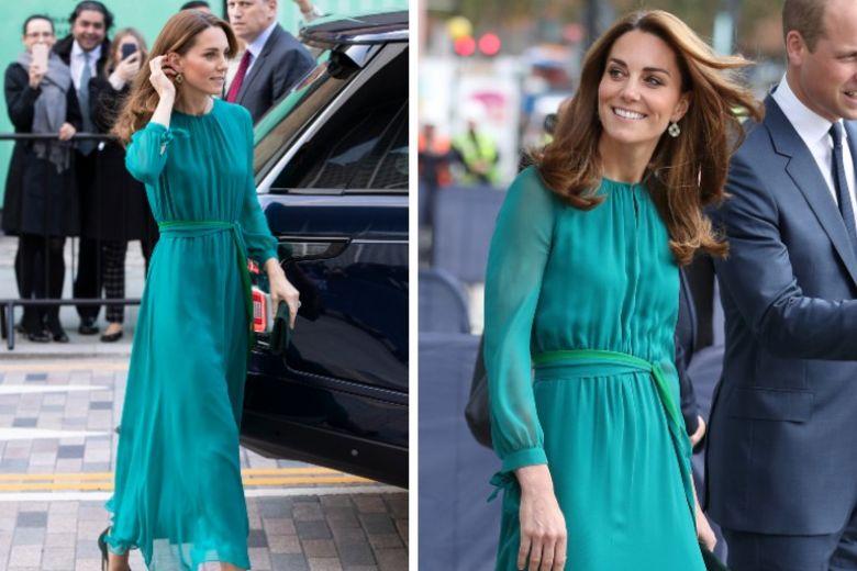 Il vestito verde pavone di Kate Middleton è l'abito da cerimonia che stavamo aspettando