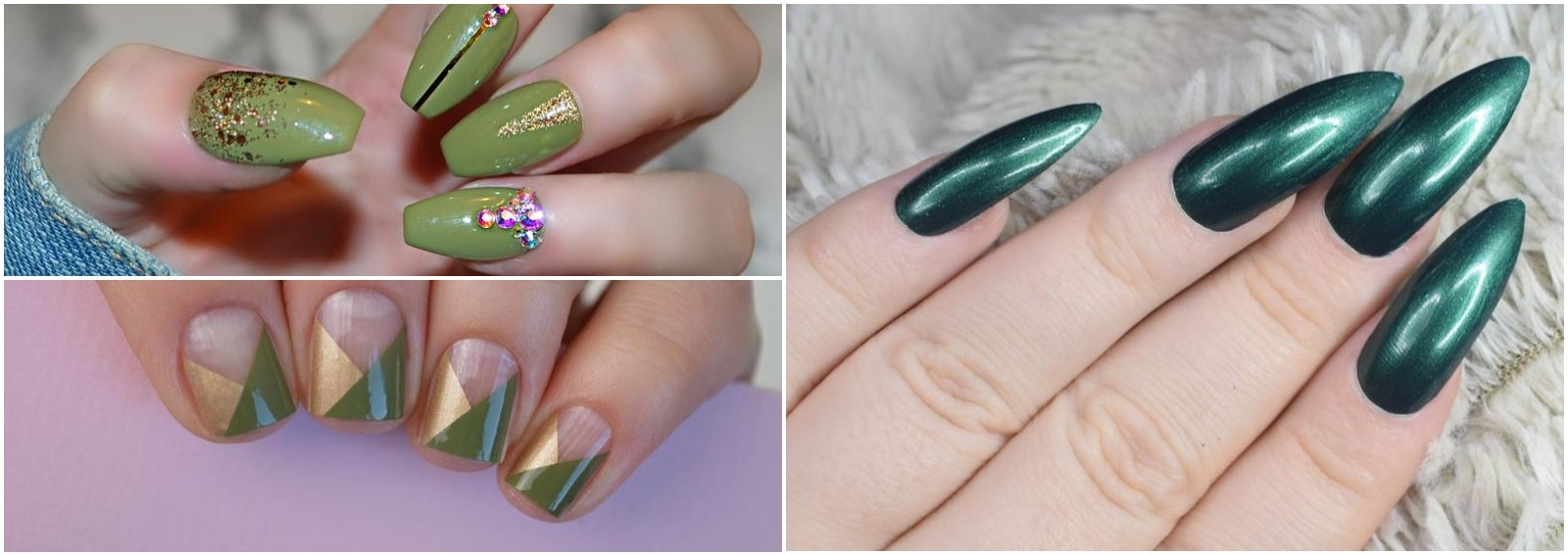 unghie verdi idee nail art foto autunno inverno 2019 2020 cover dekstop