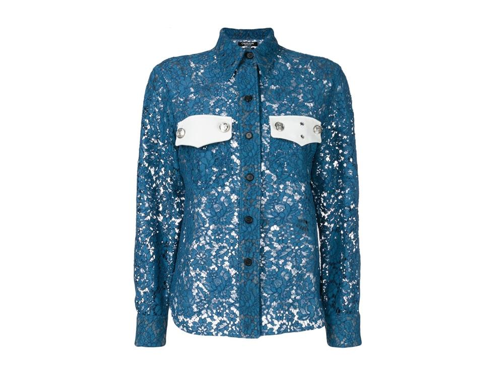 CALVIN-KLEIN-205W39NYC-su-farfetch-camicia-blu-con-dettaglio-a-rete-e-tasche-a-contrasto
