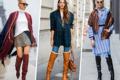 Stivali sopra il ginocchio: 5 outfit super chic per indossarli in autunno (day and night!)