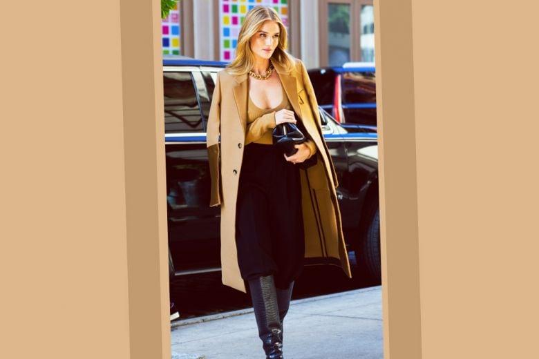 Il cappotto cammello? Mixatelo come Rosie (e sarete favolose!)