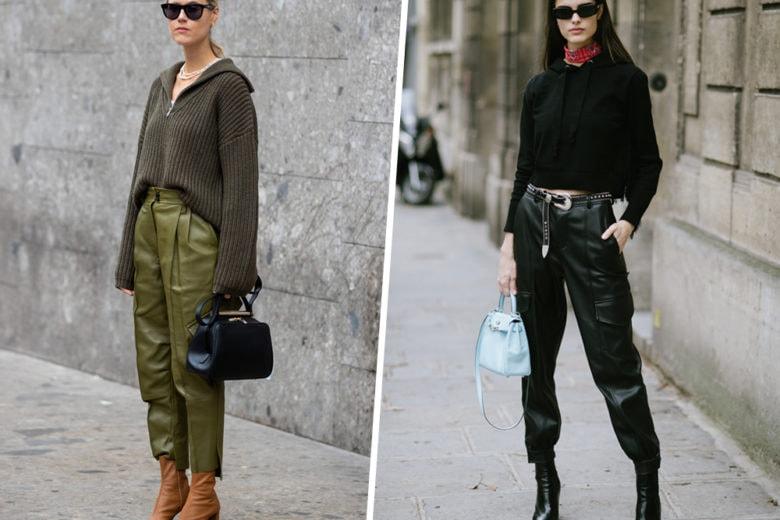 """I pantaloni di pelle sono i """"mai più senza"""" di questo autunno-inverno"""