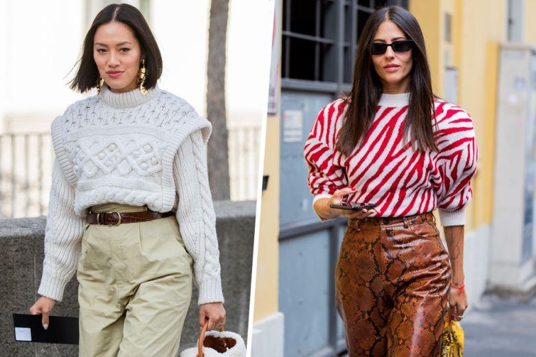 Maglia + pantaloni a vita alta: la combo invernale che vorrete sfoggiare h24