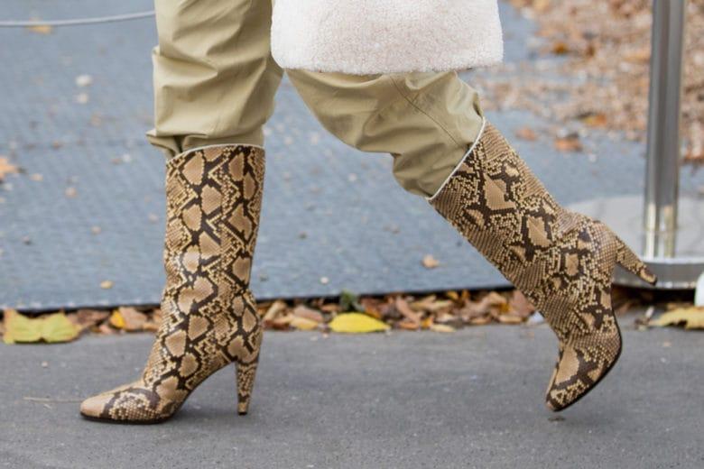 Le scarpe stampa pitone sono la nuova ossessione d'autunno
