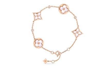 LOUIS-VUITTON-bracciale-oro-ora-madreperla-e-diamanti